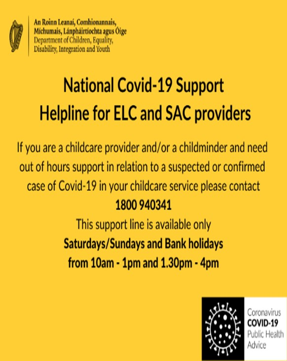 Covid-19 Case Support Helplines and HPSC Isolation Guides Updated